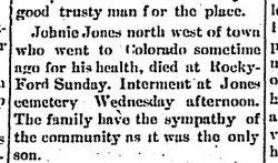 John William Johnnie Jones