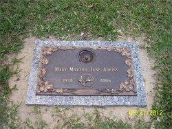 Mary Martha Jane <i>Johns</i> Rogers Adkins