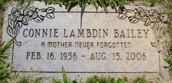 Connie <i>Lambdin</i> Bailey