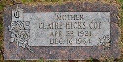 Claire <i>Hicks</i> Coe