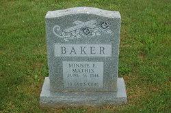 Minnie E <i>Mathis</i> Baker