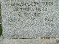 Hannah <i>Judy</i> Ours