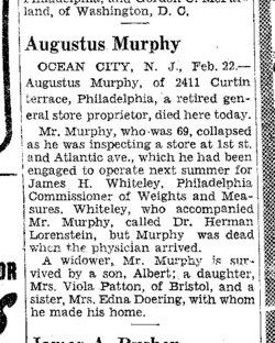 Augustus Barrett Gus Murphy