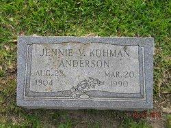 Jennie V. <i>Kohman</i> Anderson