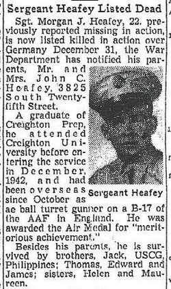 Sgt Morgan J Heafey