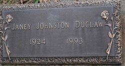 Janey <i>Johnston</i> Duclaw