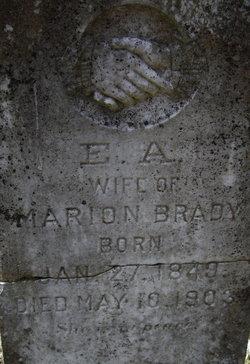 Elizabeth A <i>Cole</i> Brady