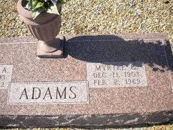 Myrtle <i>Gray</i> Adams