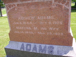 Martha M <i>Smith</i> Adams