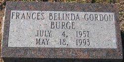 Frances Belinda <i>Gordon</i> Burge