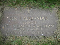 Ben F Alexander