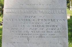 Jane Frances <i>Hunt</i> Pendleton
