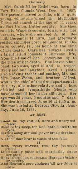 Clara <i>Webb</i> Bedell