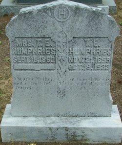 Emily E. <i>Huggins</i> Humphries