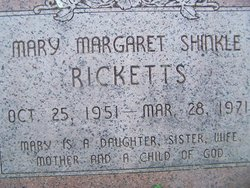 Mary Margaret <i>Shinkle</i> Ricketts