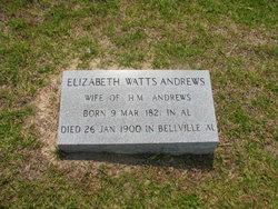 Mary Elizabeth <i>Watts</i> Andrews
