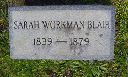 Sarah Thompson Sallie <i>Workman</i> Blair