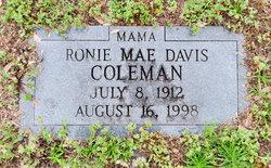 Ronie Mae <i>Davis</i> Coleman