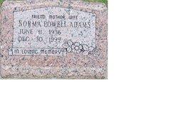 Norma June <i>Powell</i> Adams