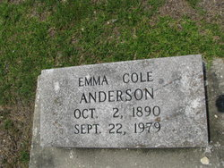 Emma <i>Cole</i> Anderson