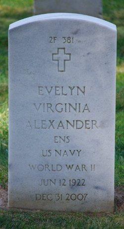 Ens Evelyn Virginia Alexander