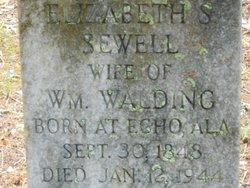 Elizabeth S <i>Sewell</i> Walding