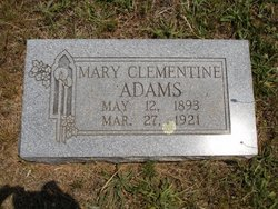 Mary A Clementine <i>Wade</i> Adams