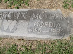 Cordelia E Cordie <i>Webb</i> Brown