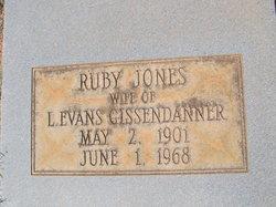 Ruby <i>Jones</i> Gissendanner