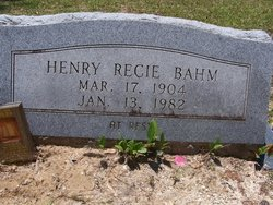 Henry Recie Bahm
