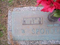 Harry George Bud Sponseller, Sr
