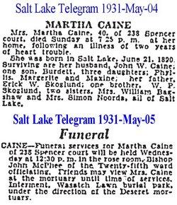 Martha <i>Skoglund</i> Caine