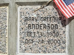 Mary <i>Greenup</i> Anderson