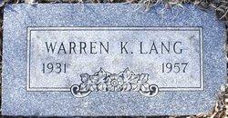 Warren K. Lang