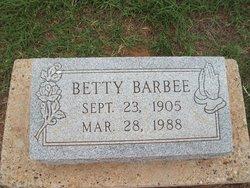 Gertrude Elizabeth Betty <i>Pritchard</i> Barbee