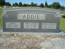 Anna <i>Lorick</i> Addie