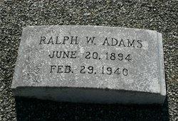 Ralph W Adams