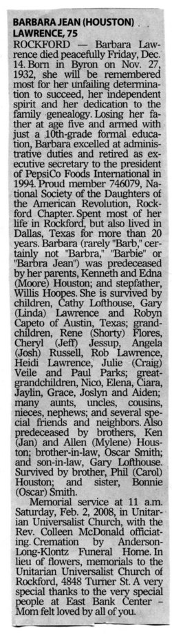 Barbara J. <i>Houston</i> Lawrence