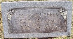 Lou Ellen Ellen <i>Brown</i> Cheek