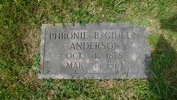Phronie B. <i>Gideon</i> Anderson