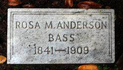 Rosa M <i>Anderson</i> Bass