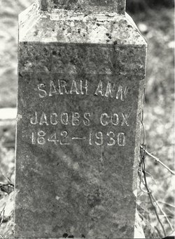 Sarah Ann <i>Jacobs</i> Cox