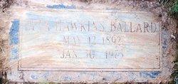 Etta <i>Hawkins</i> Ballard