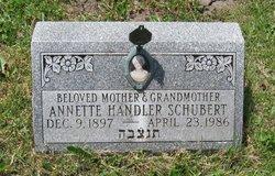 Annette <i>Handler</i> Schubert