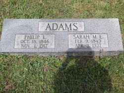 Sarah M. E. <i>Needham</i> Adams