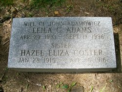 Leila <i>Coster</i> Adamowicz (Adams)