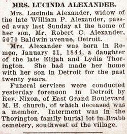Lucinda <i>Thorington</i> Alexander