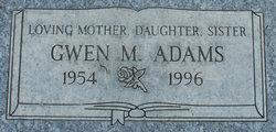 Gwen M Adams