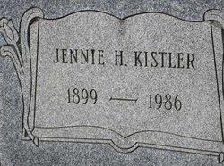 Mrs Jennie H <i>Hamm</i> Kistler
