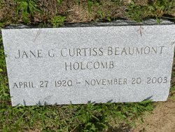 Jane G <i>Curtiss</i> Beaumont Holcomb